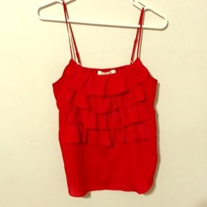 Tops - Red ruffle top
